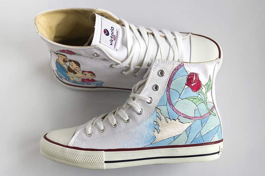 Zapatos Pintados a Mano - Zapatillas _ Lápiz Creativo