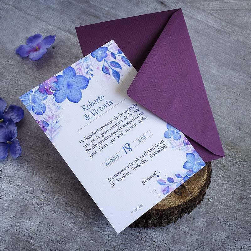 Invitación de Boda Hortensias