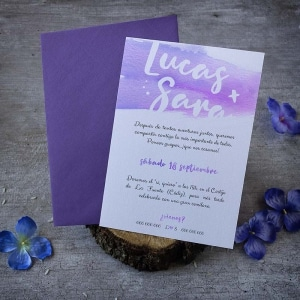 Invitación de boda - Textura