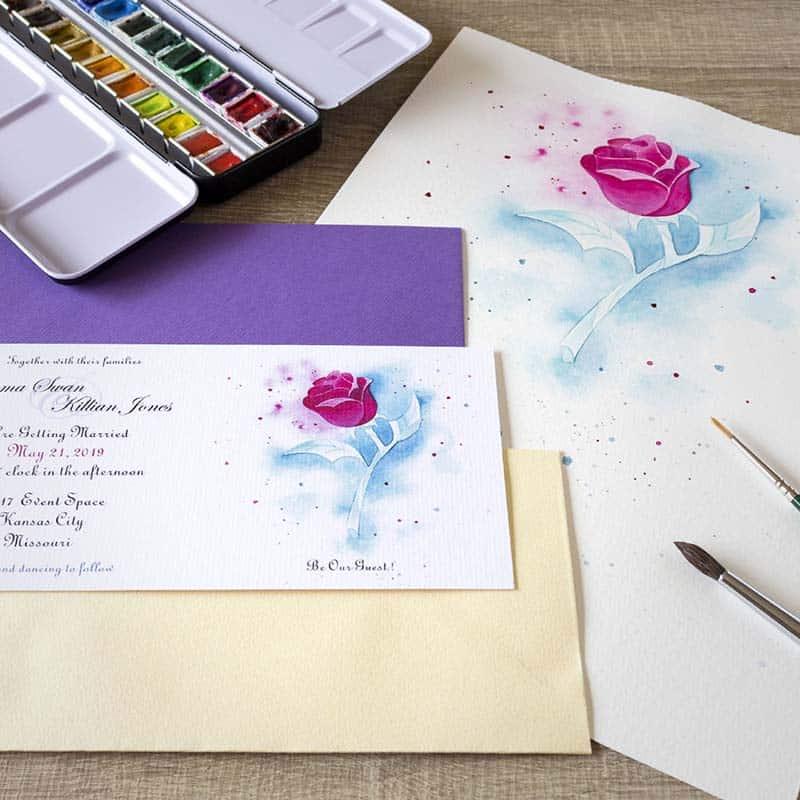 Invitaciones de Boda _ Fantasia _ Rosa