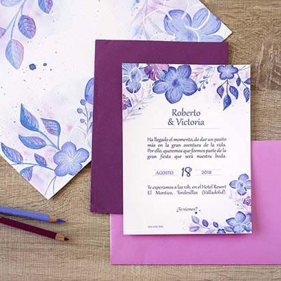 Invitaciones de Boda _ Hortensias