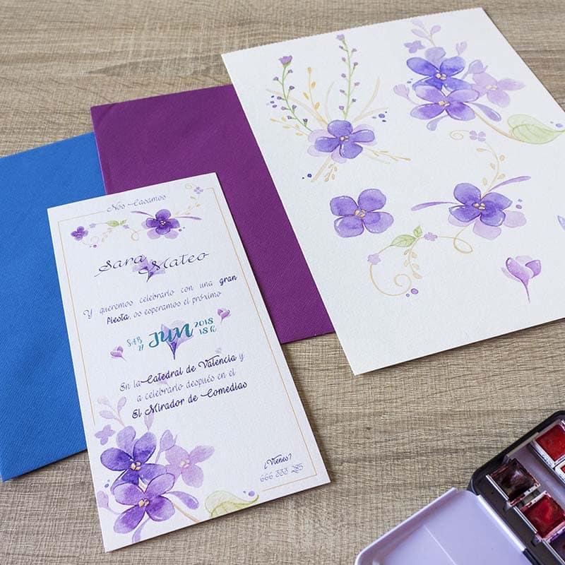Invitación de Boda _ Natura _ Violetas