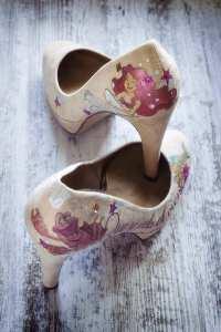 Zapatos Pintados a mano para invitadas