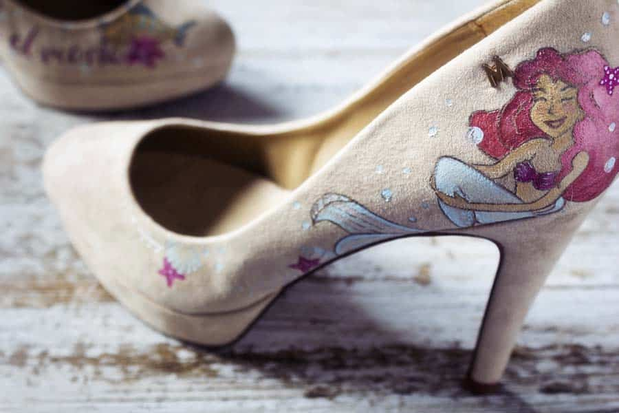 Zapatos inspirados en La Sirenita