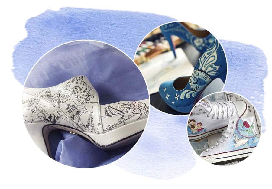 Zapatos Pintados a Mano _ Ilustración y Diseño _ Lápiz Creativo