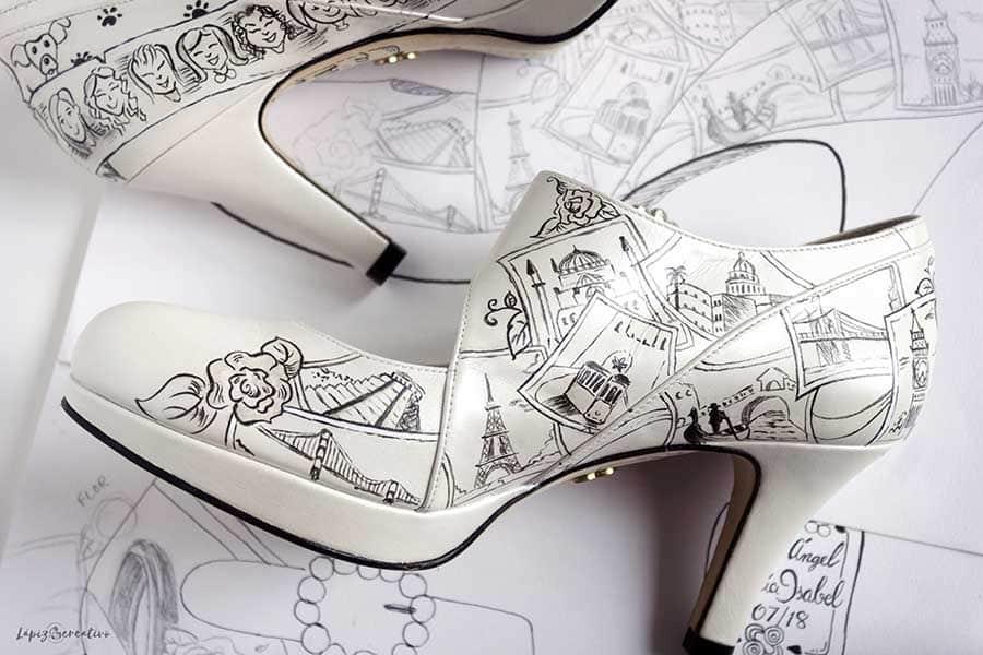 Boceto Zapatos de novia María Isabel