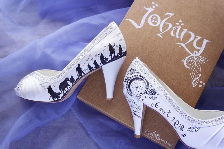 zapatos pintados a mano | zapatos de boda | zapatos de novia
