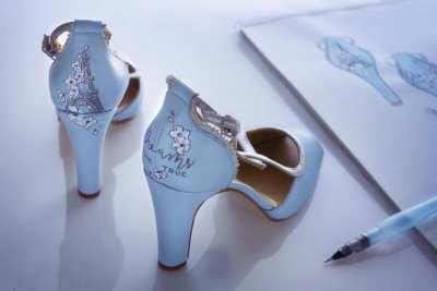 Zapatos de novia Pintados a mano _ Lupe Ramos y Lápiz Creativo