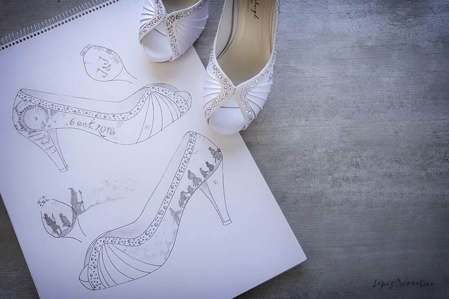 Boceto Zapatos de novia