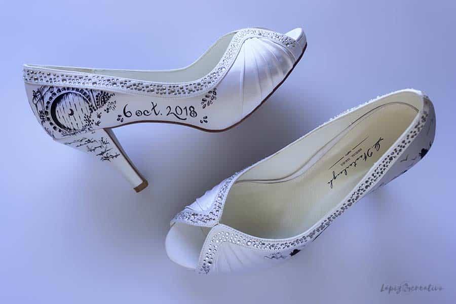 Casa Bilbo Bosón zapatos de novia - lapiz creativo