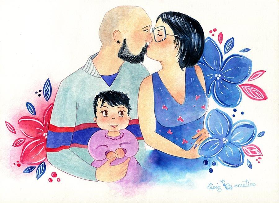 Ilustración Personalizada _ Regalo padres