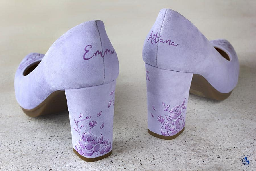 Zapatos de novia Pintados a mano _ mimao shoes _ Lapiz Creativos _ Mimao
