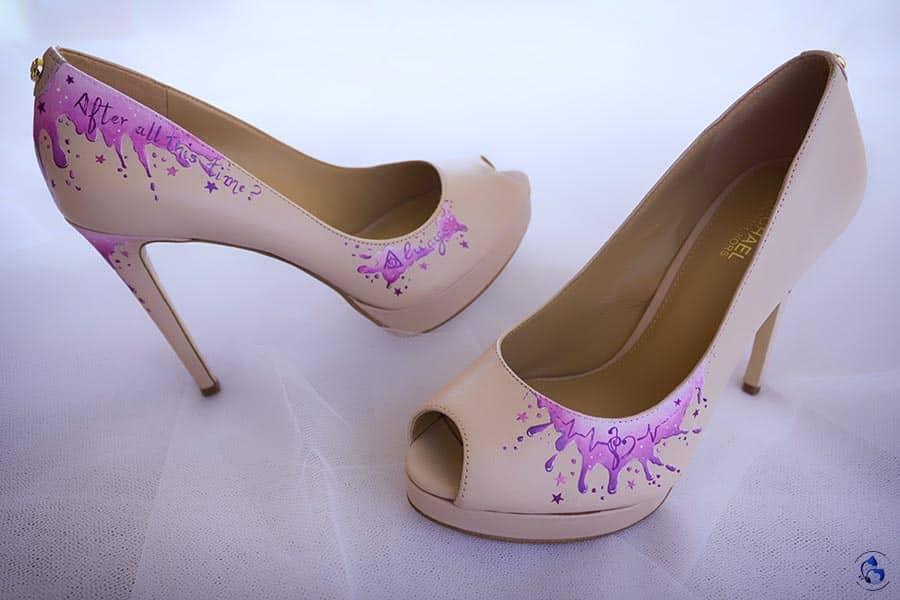 Zapatos de Novia Pintados a Mano _ Harry Potter _ LapizCreativo