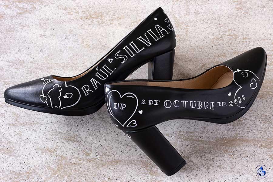 zapatos de tacón cómodos - tacones de novia - zapatos pintados a mano - mimao shoes - LapizCreativo