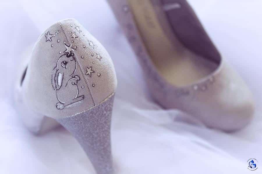 Zapatos de Tacón Cómodos _ Zapatos Pintados a Mano by Lápiz Creativo