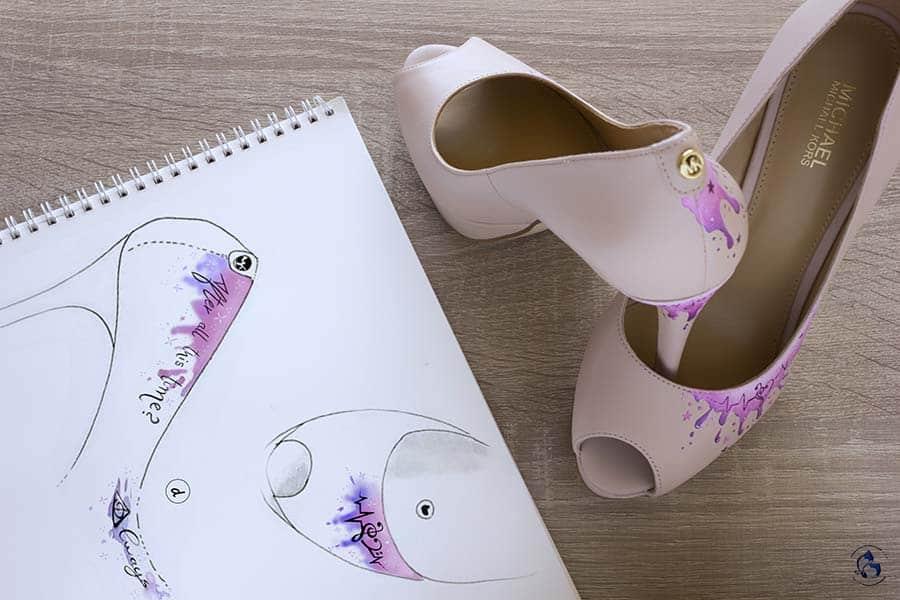 Boceto Zapatos Decorados