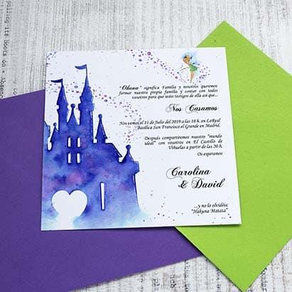 Invitación de boda Castillo Disney