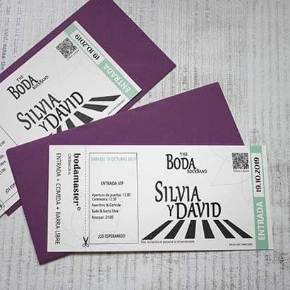 Invitacion de boda _ entrada de concierto Beatles