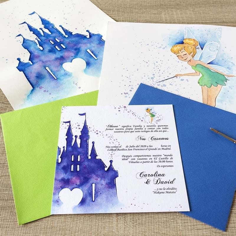 Invitaciones de Boda _ Fantasia _ Castillo Disney