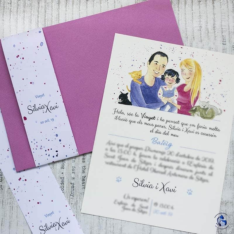 Invitación de Boda con hijos _ Invitaciones de Boda de Familia _ Lápiz Creativo