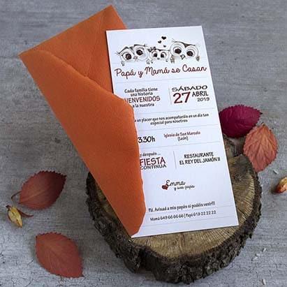 Invitacion de boda con hijos _ Lapiz creativo