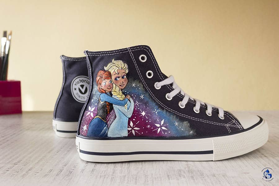 Zapatillas Personalizadas _ frozen _ lapiz creativo