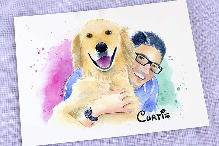 Ilustracion personalizada _ lovepet _ lapizcreativo