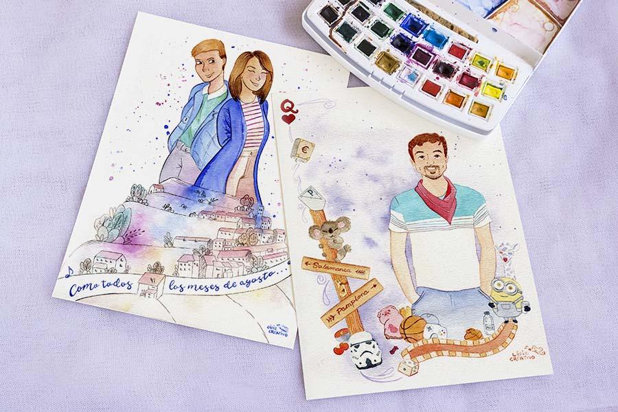 Ilustraciones personalizadas _ retratooriginal _ regalo boda _ lapizcreativo