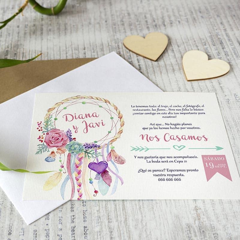 Invitaciones de boda _ Atrapasueños _ Lapiz Creativo