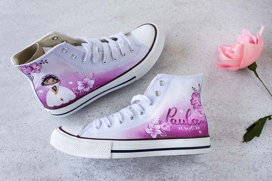 Zapatillas Personalizadas _ Zapatillas de comunion _ LapizCreativo