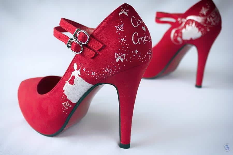 Zapatos Pintados a mano para novia