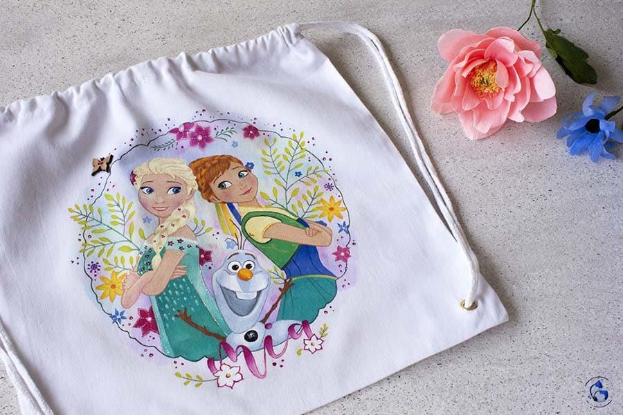 Bolsos decorados _ Frozen _ mochilas para niños _ saquito para el cole