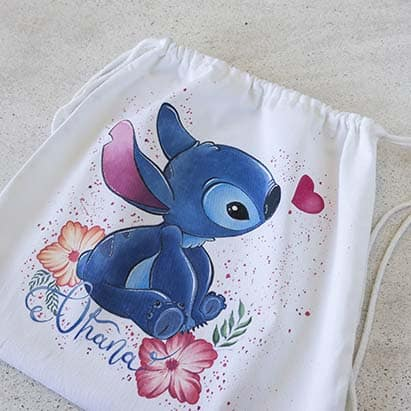 Bolso Decorado _ Stitch _ LapizCreativo