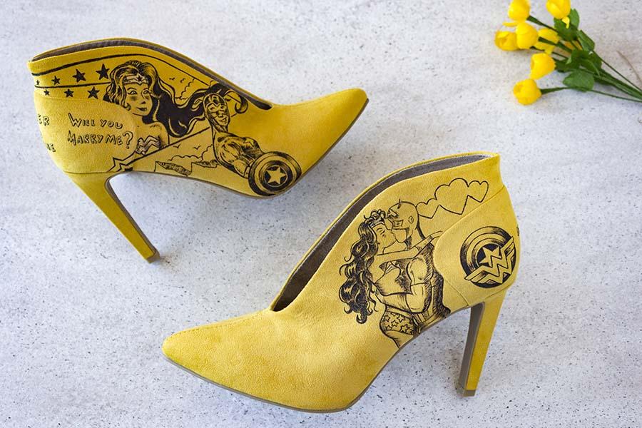 Zapatos de Pedida _ Cómic _ Captain America y Wonder Woman