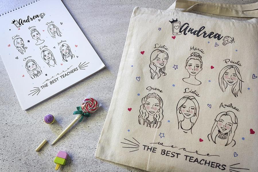 Bolsas de Tela Personalizadas _ Tote bag para Profesores