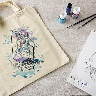 Bolsas de Tela Personalizadas _ Tote bag _ LapizCreativo