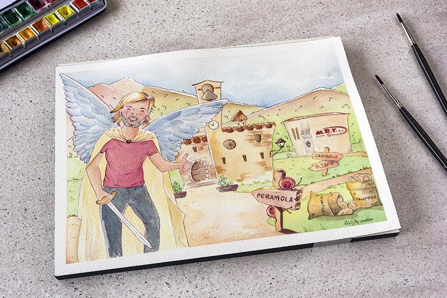 Ilustraciones Personalizadas_ Retrato _ Acuarela _ Lapiz Creativo
