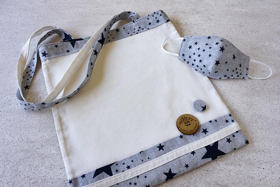 Tote Bag miMOs _ Bolsa de tela estampado Estrellas