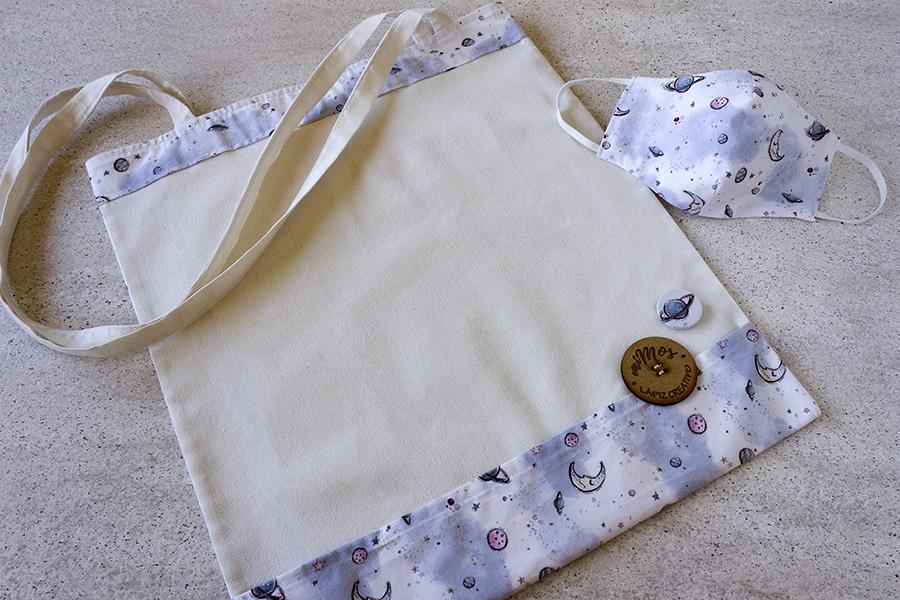Tote Bag miMOs _ Bolsa de tela estampado Lunas