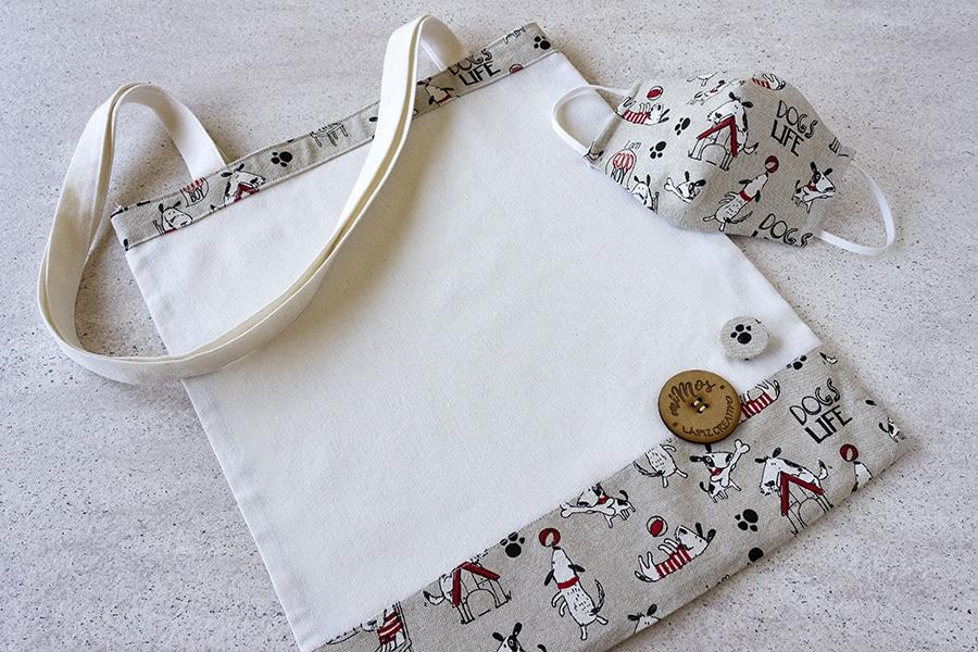 Tote Bag miMOs _ Bolsa de tela estampado Perritos