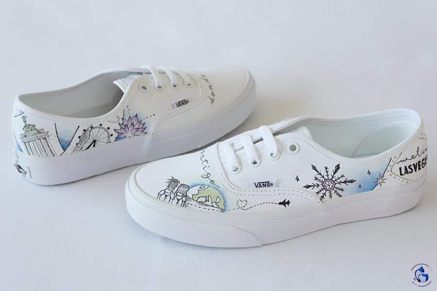 Zapatillas de novia pintadas a mano _ converse personalizadas _ lapiz creativo