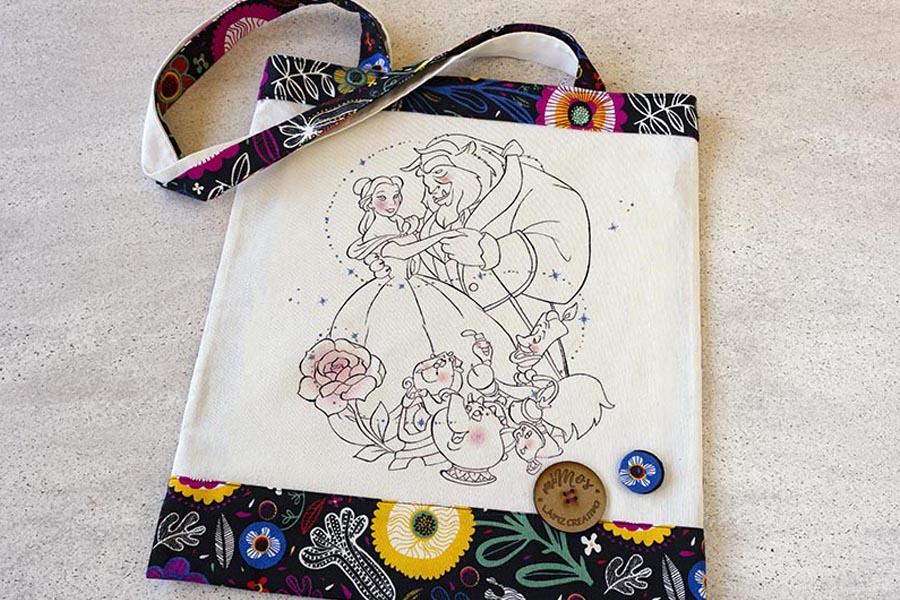 tote bag mimos _ bosa de tela bella y bestia _ lapizcreativo