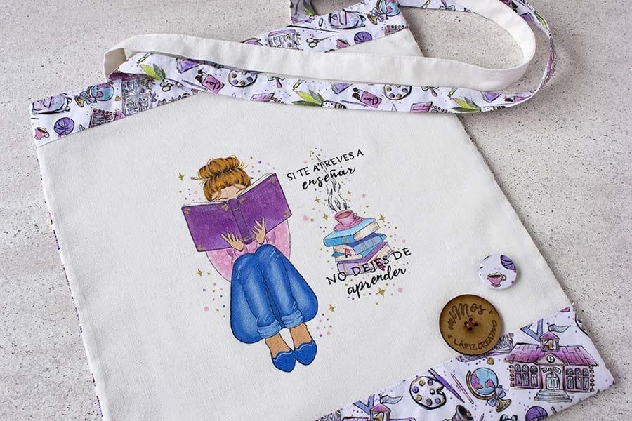 tote bag miMos _ bolsa de tela para profes _ regalos orginales _ lapizcreativo