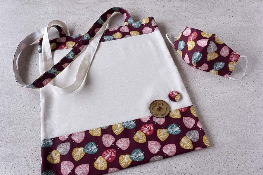 Tote Bag miMos _ Bolsas de tela pintadas a mano _ bolsos disney _ Lapiz Creativo