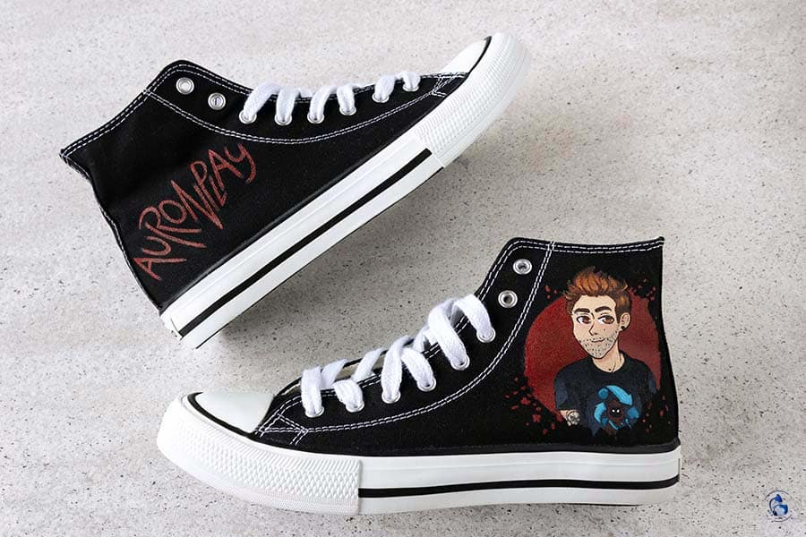 Zapatillas Personalizadas _ Zapas pintadas _ Auronplay _ lapiz Creativo