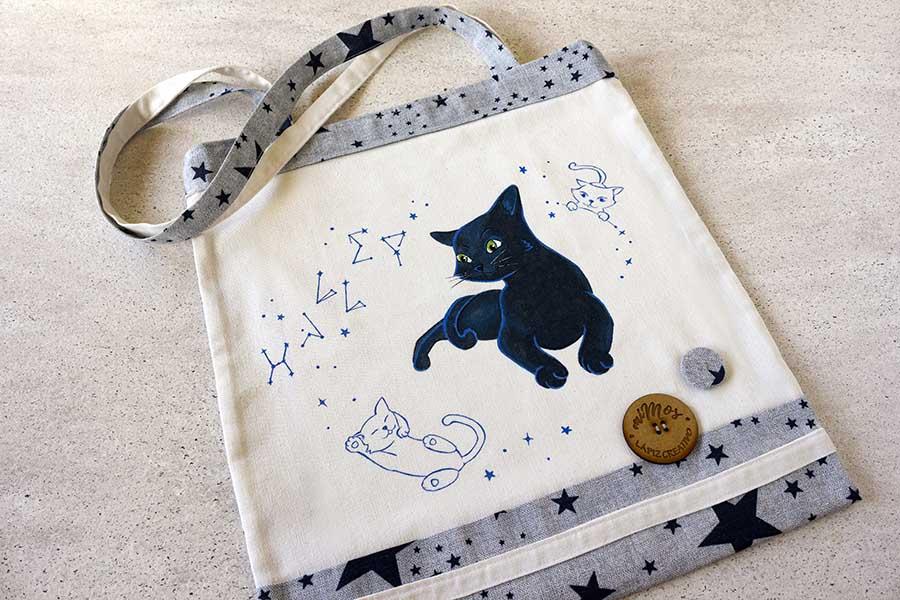tote bag miMos _ bolso gato_ bolsos decorados _LapizCreativo