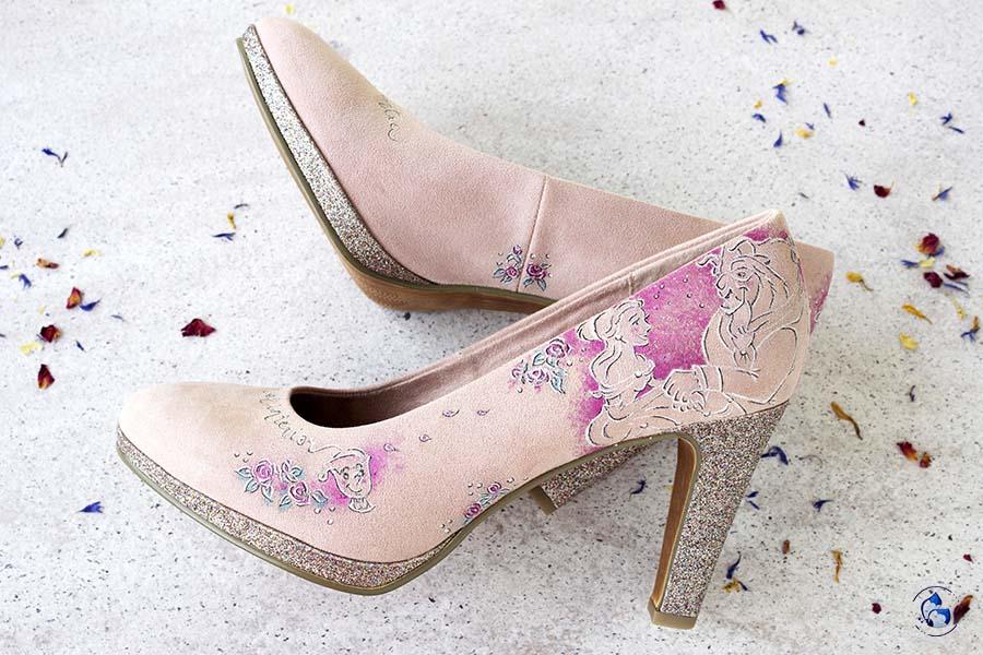 Zapatos Pintados a Mano _ Zapatos Disney _ Bella y Bestia _ LápizCreativo