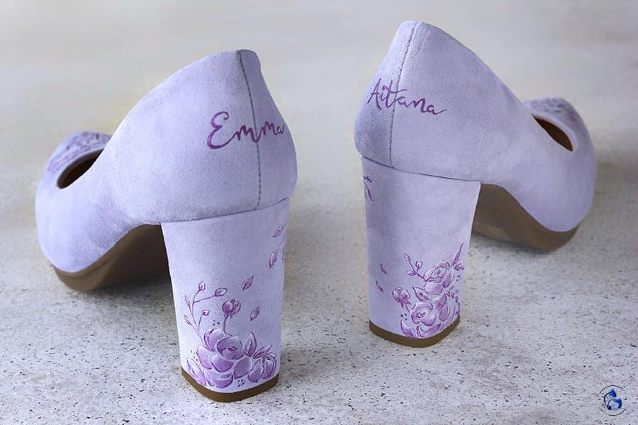 Zapatos Pintados a Mano _ Zapatos de novia comodos _ salones mimao _ Lapiz Creativo