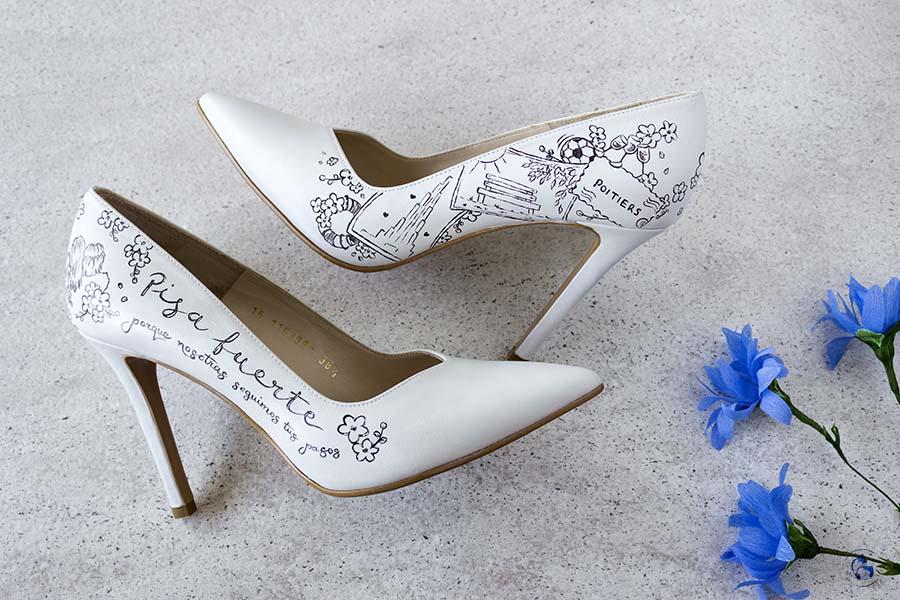 Zapatos de novia _ Zapatos Pintados a Mano _ LapizCreativo
