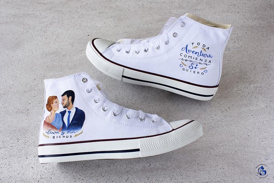 Zapatillas Personalizadas para novia